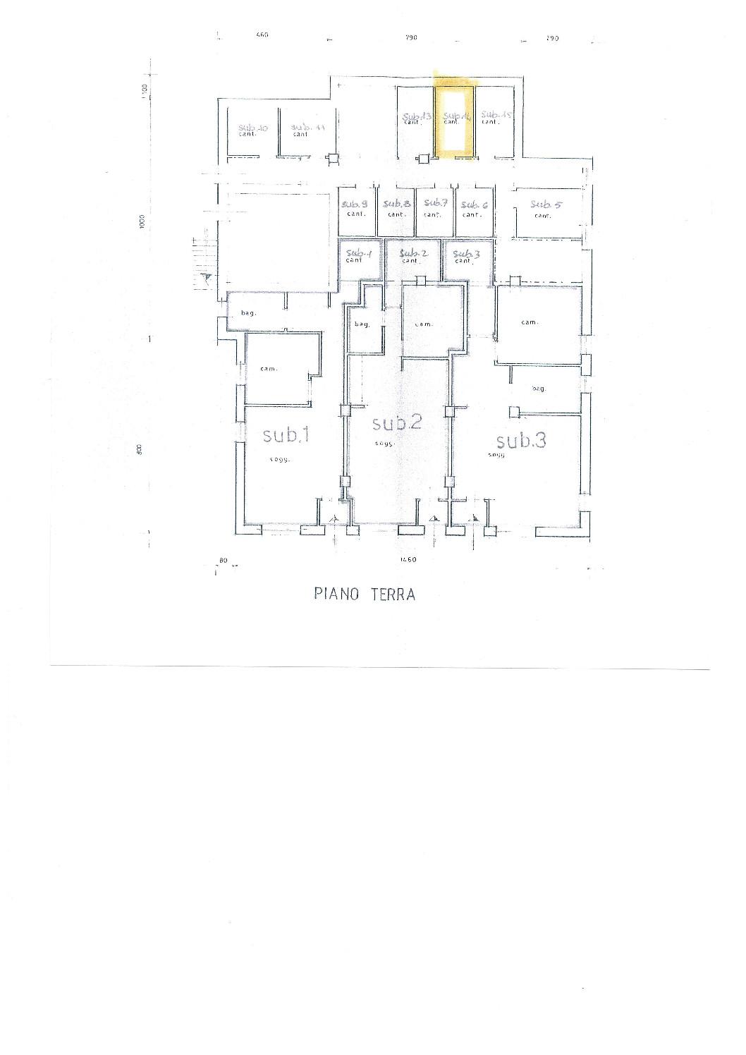 Immobiliare Abita planimetria cantina